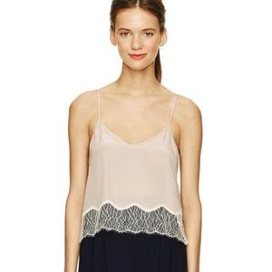 🌸Wilfred🌸 100% Silk EUC Chimere Camisole Lace